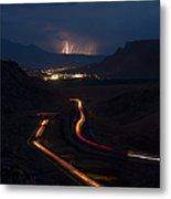 Moab Storm Metal Print