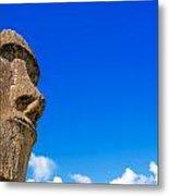 Moai And Blue Sky Metal Print