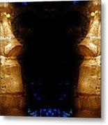 Moai Gold Metal Print