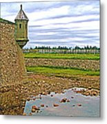 Moat And Wall Around Fortress In Louisbourg Living History Museum-ns Metal Print