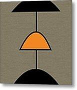 Mobile 2 In Orange Metal Print