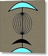 Mobile 3 In Turquoise Metal Print