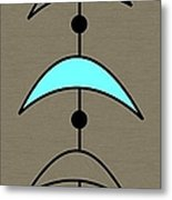 Mobile 4 In Turquoise Metal Print