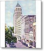Mobile Alabama - North On St. Joseph Street - Merchants National Bank - 1937 Metal Print