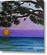 Mobile Bay Sunset Metal Print