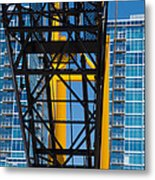 Mobile Crane Section Metal Print