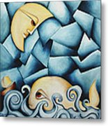 Moby Dick The Daughter Of The Moon  Metal Print by Simona  Mereu