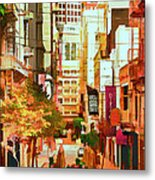 Mocca On Maiden Lane Metal Print by Bill Gallagher