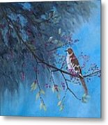 Mockingbird Happiness Metal Print