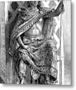 Moctezuma II, Ninth Tlatoani, Aztec Metal Print