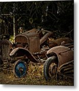 Model A Bodies And One Blue Wheel Metal Print