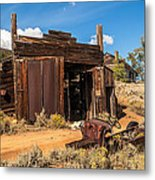 Model A Truck With Garage And House Metal Print