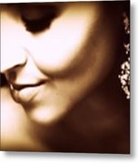 Model - Beauty Metal Print