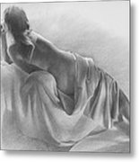 Model In Drapery 2003  Metal Print