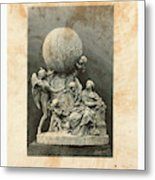 Model Of A Statue Dedicated To French Balloonists Metal Print
