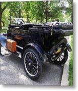 Model T With Luggage Rack Metal Print