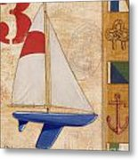 Model Yacht Collage II Metal Print by Paul Brent