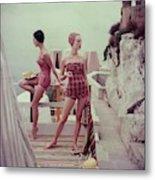 Models Wearing Bathing Suits In Palermo Metal Print