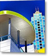 Modern Architecture With Blue Sky Metal Print