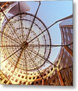 Modern Architecture With Sun Shade Metal Print