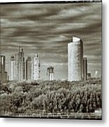 Modern Buenos Aires Black And White Metal Print