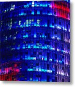 Modern Building At Night Metal Print