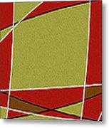 Modern Curve Oil Metal Print