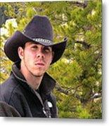 Modern Day Cowboy Metal Print