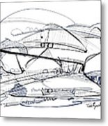 Modern Drawing Seventy-six Metal Print
