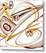 Modern Drawing Twenty Metal Print