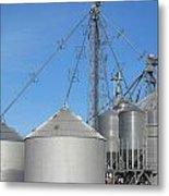 Modern Farm Storage And Towers Metal Print