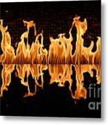 Modern Fireplace Fire Reflected In Water Feature No.5 Metal Print