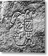Modern Hieroglyphics Vii Metal Print