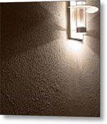 Modern Lamp On Concrete Wall Metal Print