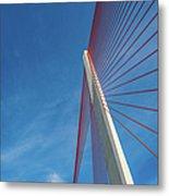 Modern Suspension Bridge Metal Print