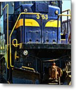 Modern Train Engine Metal Print
