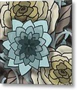 Modern Water Lily Metal Print