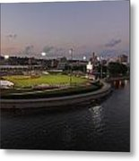 Modern Woodmen Ball Park At Night. Metal Print