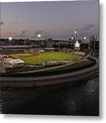 Modern Woodmen Park At Night Metal Print