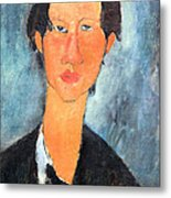 Modigliani's Chaim Soutine Up Close Metal Print