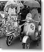 Mods Scooters Metal Print