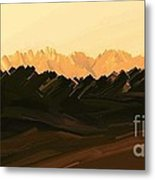 Mohave Desert Mountains Metal Print