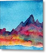 Mohave Mountains Metal Print