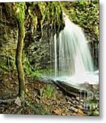 Mohawk Falls At Ricketts Glen Metal Print