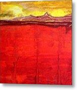 Mojave Dawn Original Painting Metal Print