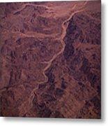 Mojave Desert Aerial Metal Print
