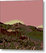 Mojave Desert In Mauve Metal Print by Sharon McLain