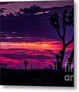 Mojave Desert Sunrise Metal Print