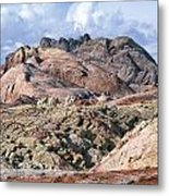 Mojave Desert View - Valley Of Fire Metal Print