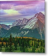 Molas Pass Sunset Panorama Metal Print